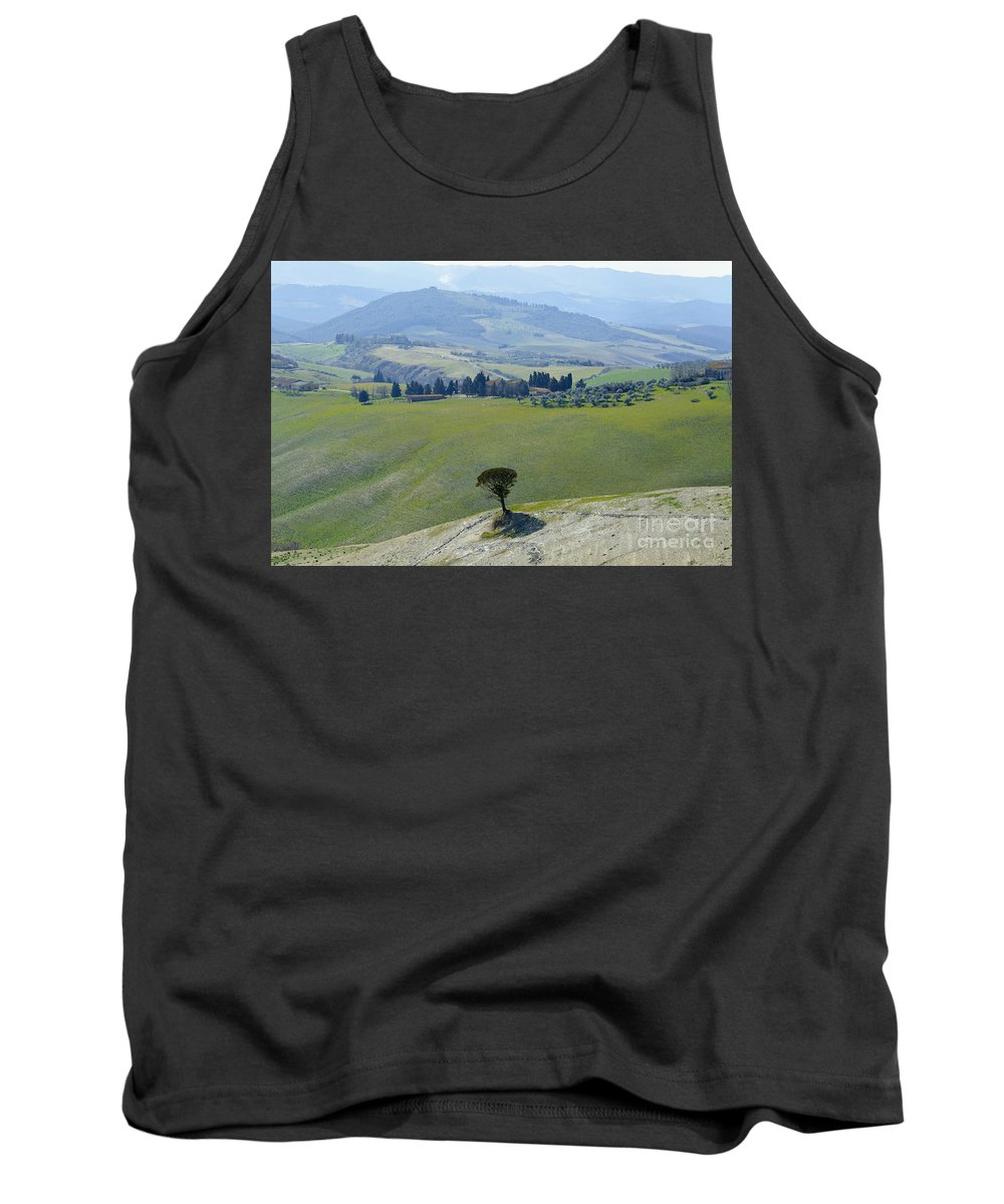 Trees Tank Top featuring the photograph Landscape View by Mats Silvan
