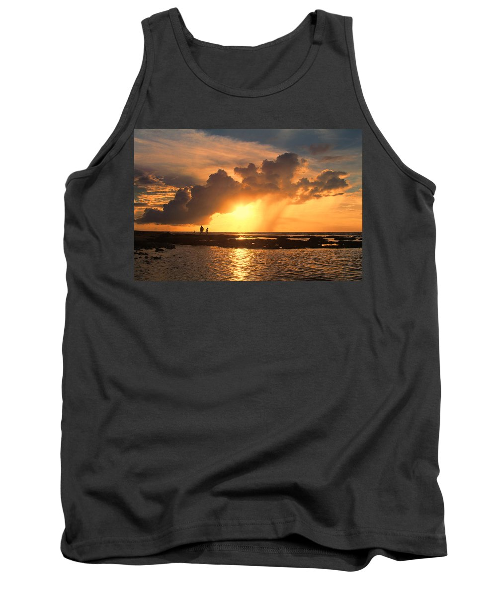 Causarina Coastal Reserve-top-end Tank Top featuring the photograph Late Afternoon Beach Walk by Douglas Barnard