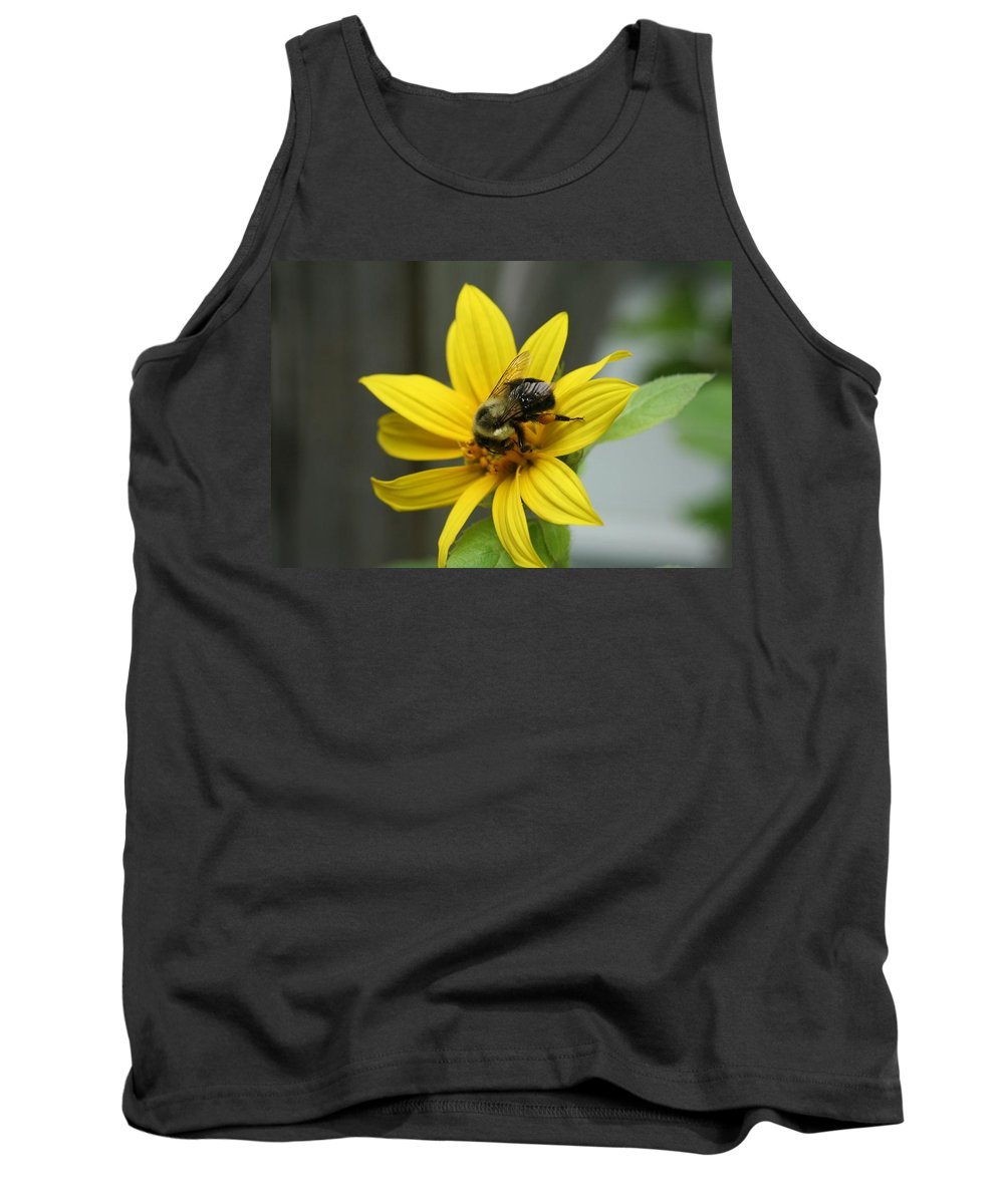 Bumble Bee Tank Top featuring the photograph Let Me In by Barbara S Nickerson