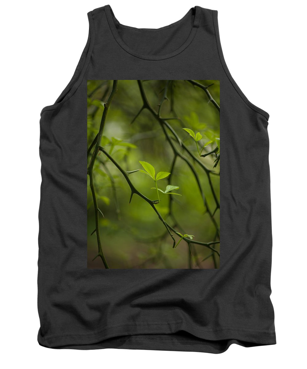 Flower Tank Top featuring the photograph Life And Thorns by Mike Reid