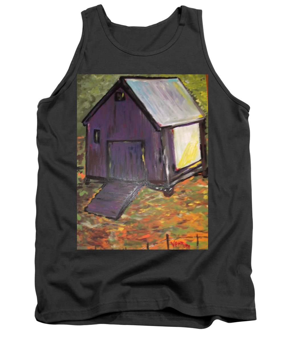Purple Tank Top featuring the painting Light Cast Shadows by Clare Ventura