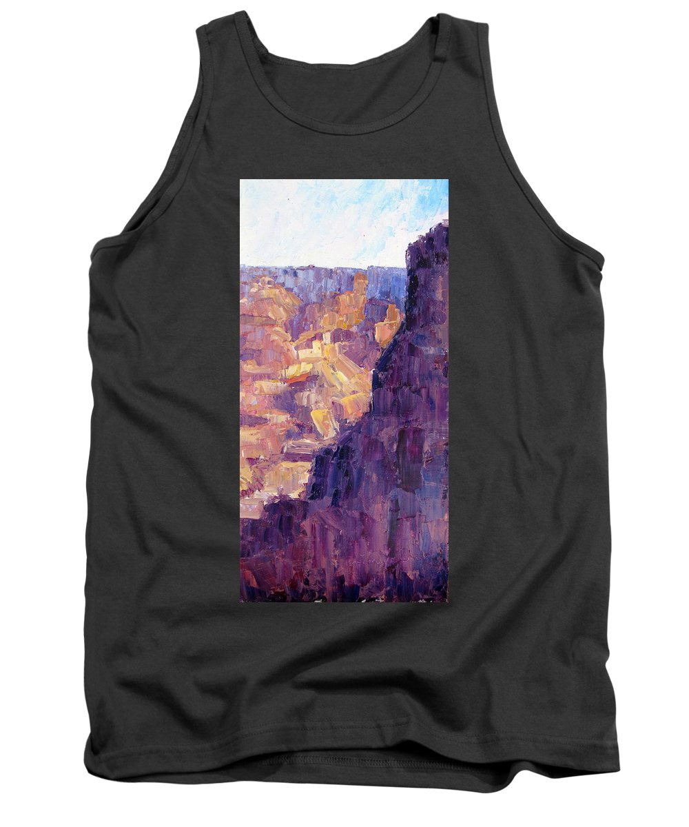 Grand Canyon Tank Top featuring the painting Light In The Canyon by Terry Chacon