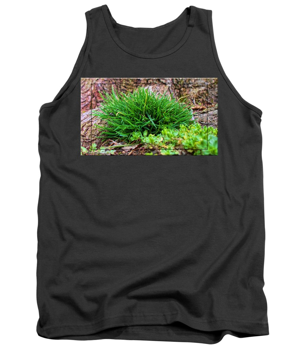 Nature Tank Top featuring the photograph Little Grass Mound by Debbie Portwood