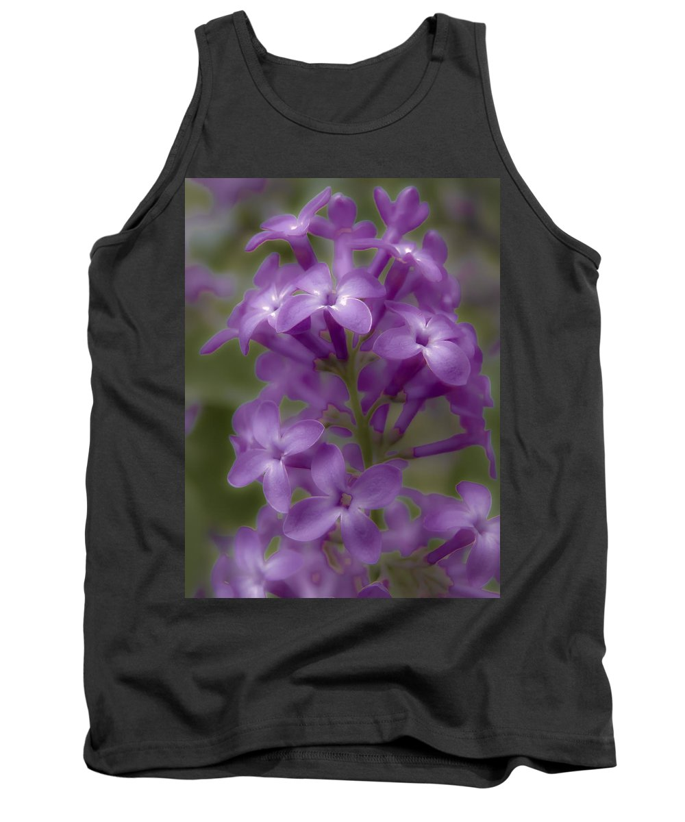 Nature Tank Top featuring the photograph Little Purple Flowers by Jiayin Ma