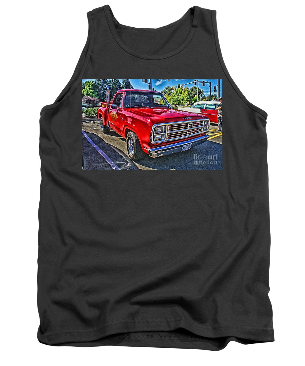 Cars Tank Top featuring the photograph Little Red Express Hdr by Randy Harris