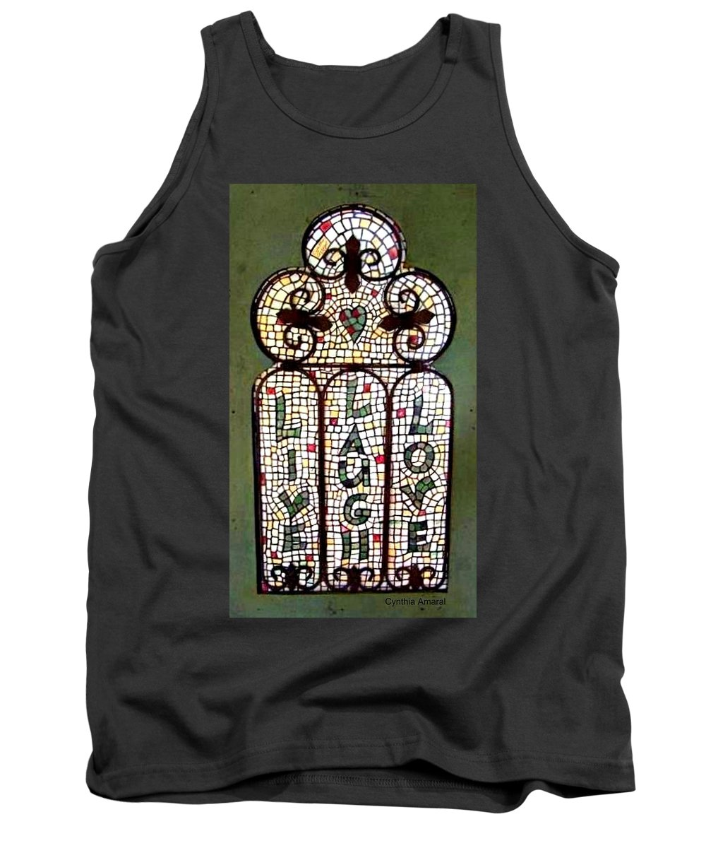 Live Tank Top featuring the painting Live Laugh Love by Cynthia Amaral