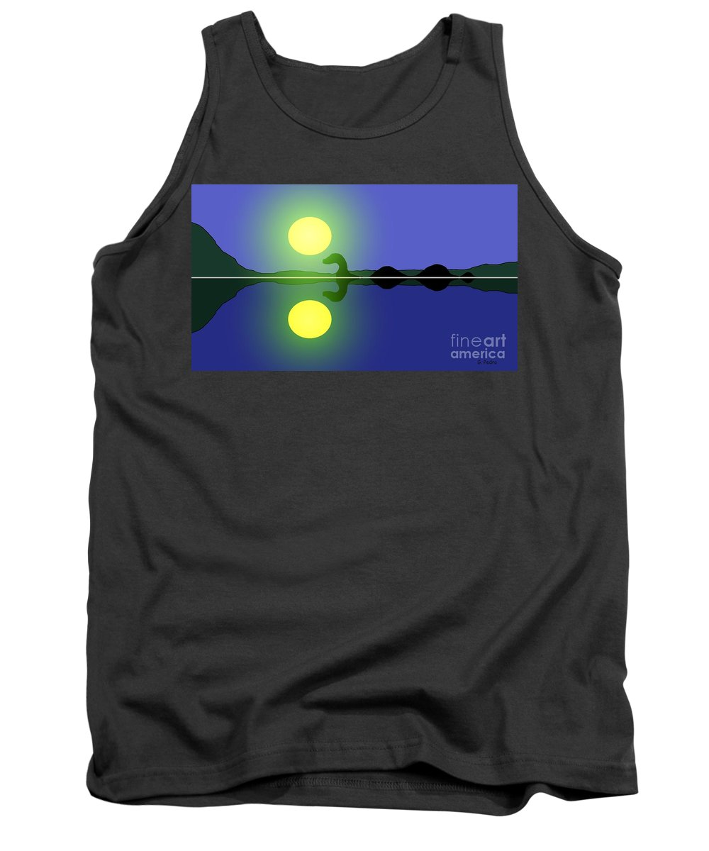 Loch Ness Tank Top featuring the painting Loch Ness Sunrise by George Pedro