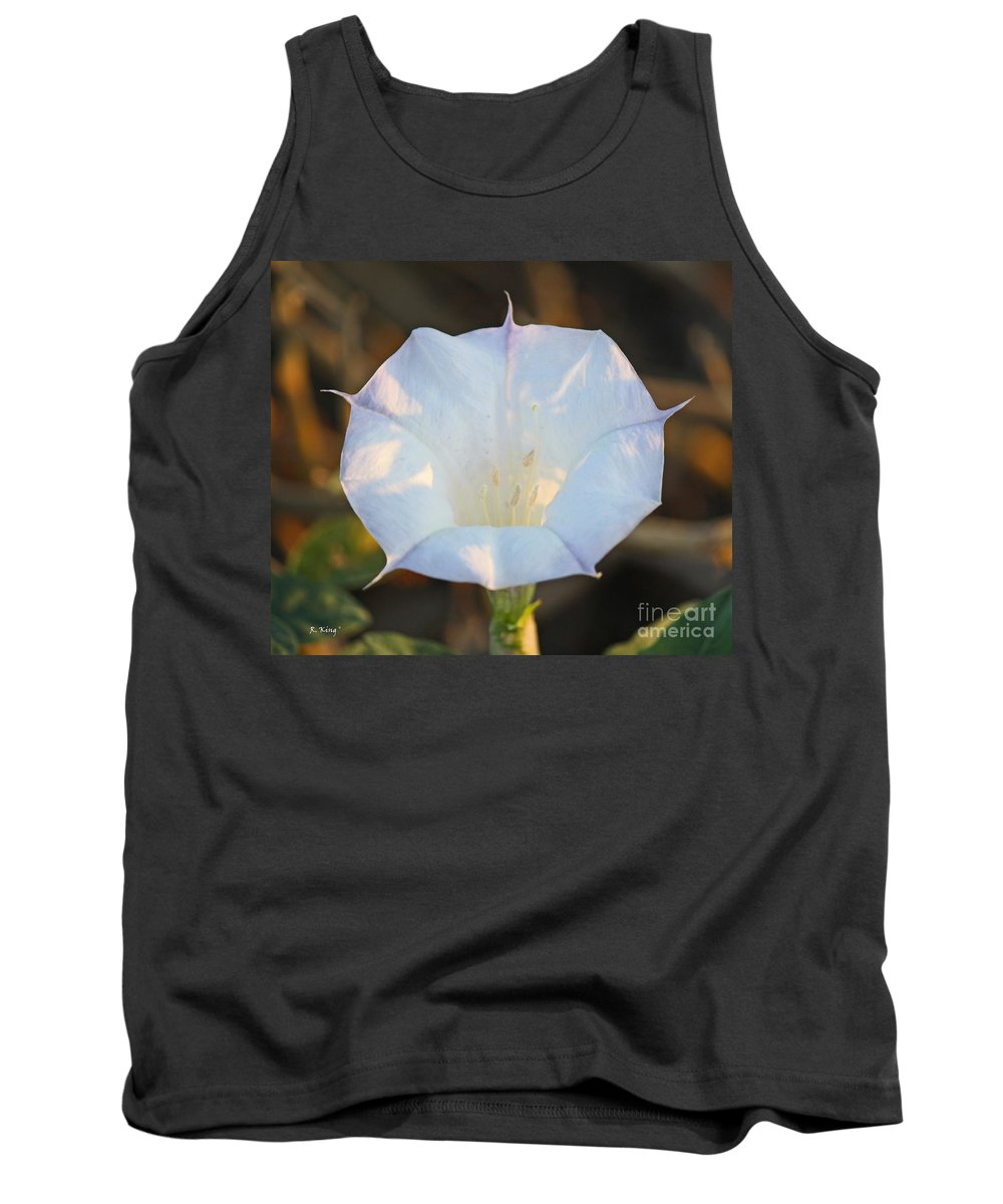 Roena King Tank Top featuring the photograph Loco Weed Flower by Roena King