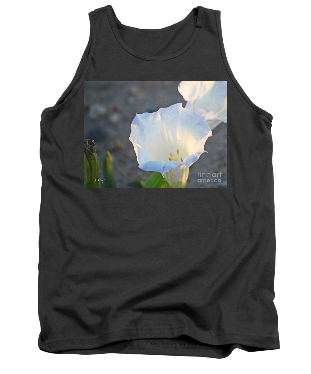 Roena King Tank Top featuring the photograph Loco Weed Flowers 1 by Roena King