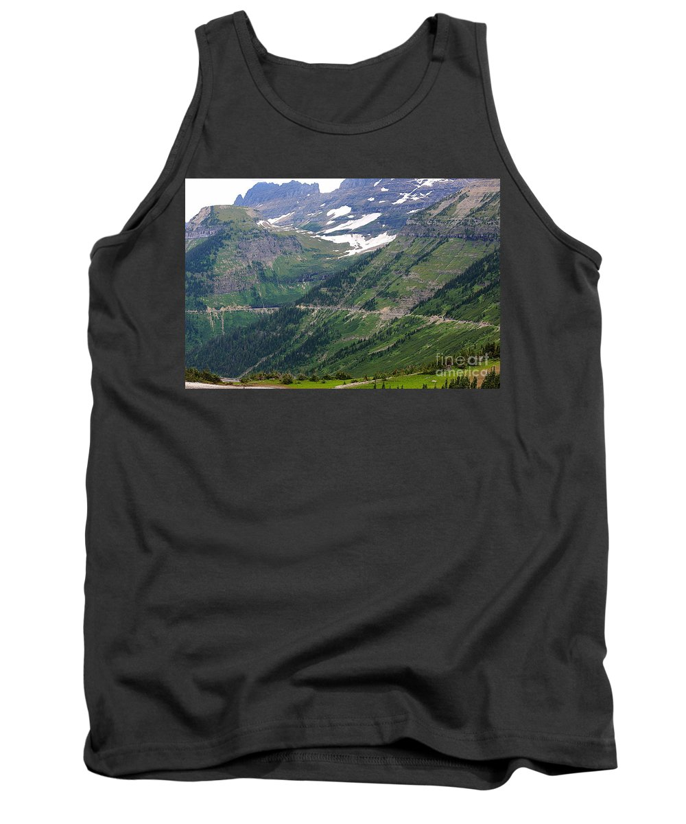 Glacier Tank Top featuring the photograph Logan's Pass Dimension by Carol Groenen