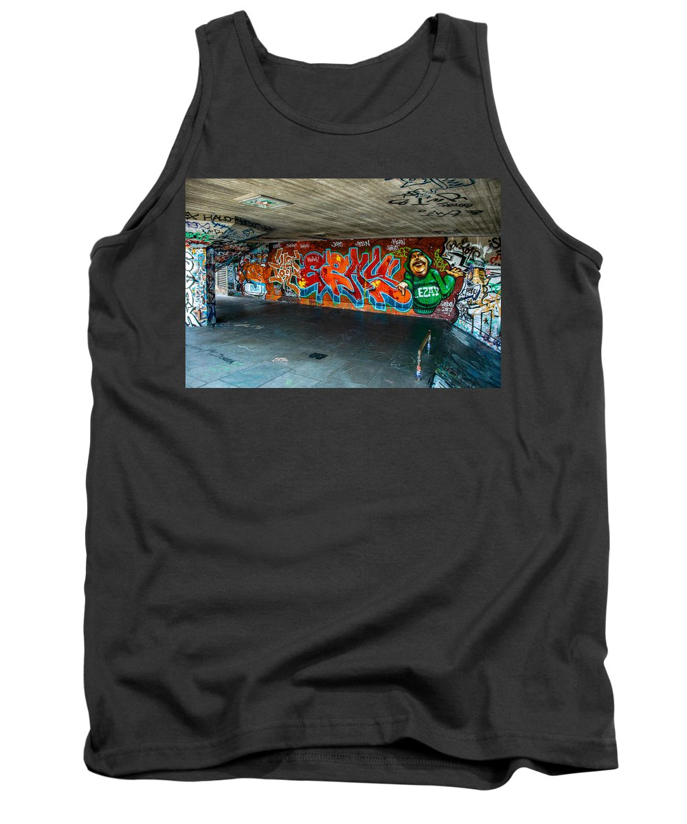 Street Art Tank Top featuring the photograph London Skatepark by Jonah Anderson
