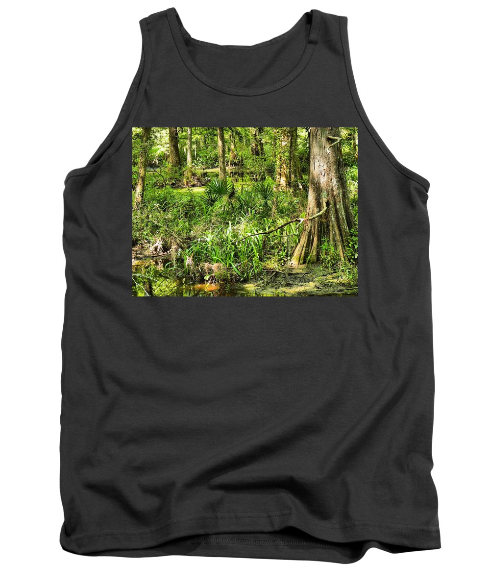 Wetland Tank Top featuring the photograph Louisiana Wetland by Anthony Walker Sr