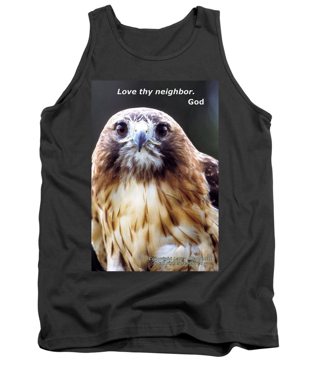 Red-tailed Hawk Tank Top featuring the photograph Love Thy Neighbor by Larry Allan