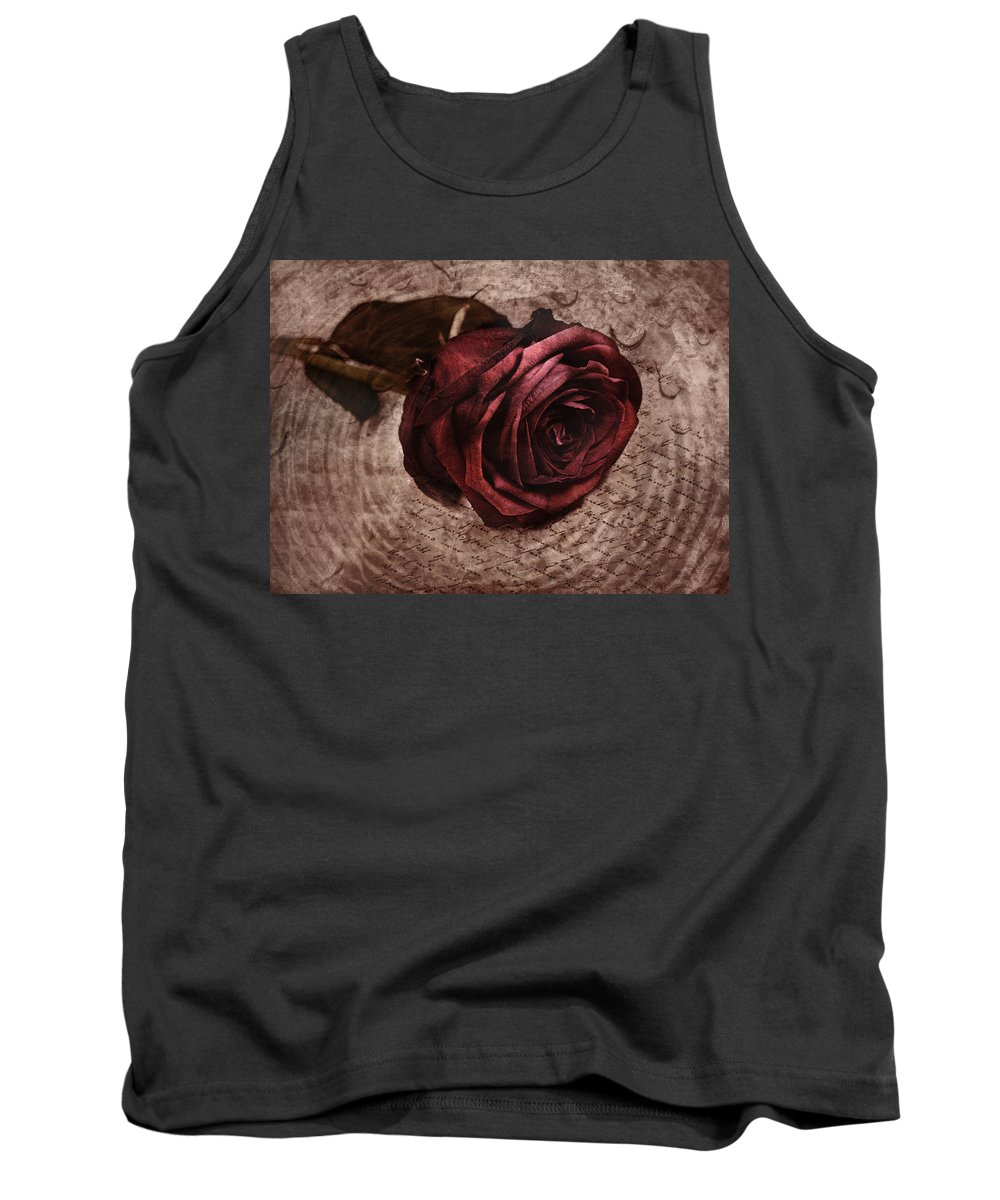 Rose Tank Top featuring the photograph Loveletter by Claudia Moeckel