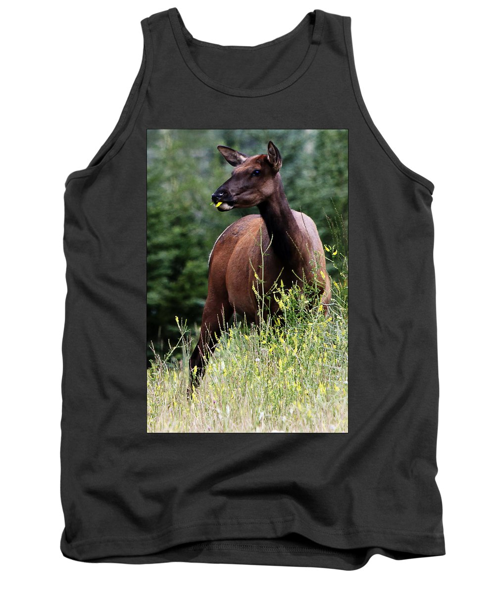 Wild Life Tank Top featuring the digital art Lunch Time by Diane Dugas