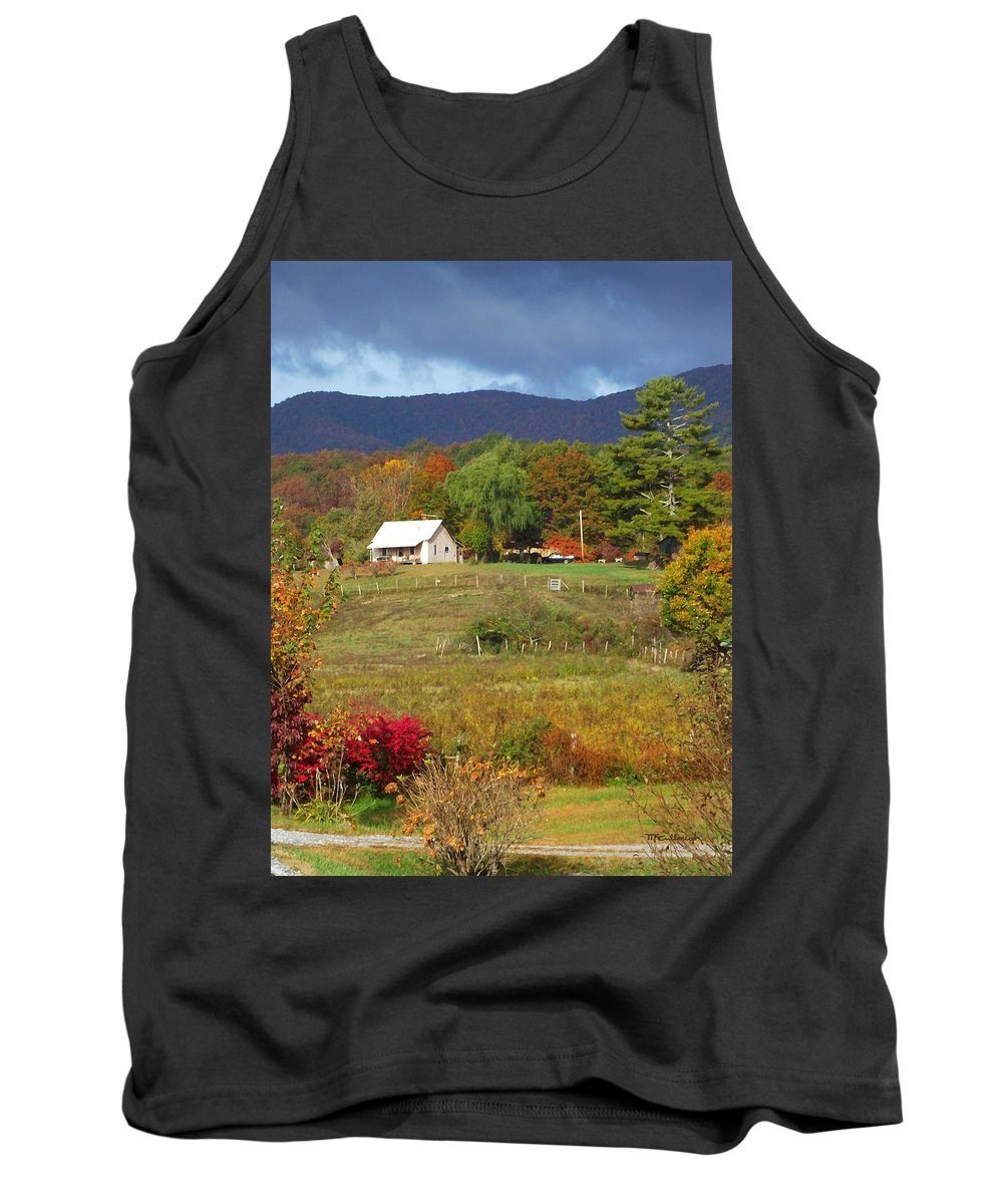 Farms Tank Top featuring the photograph Mack's Farm In The Fall 2 Filtered by Duane McCullough