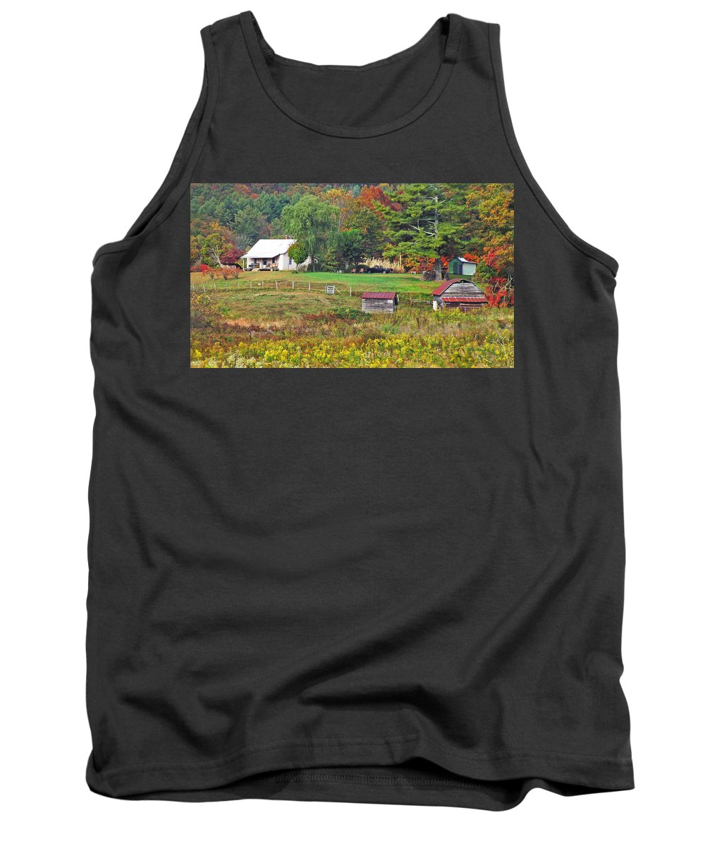 Farms Tank Top featuring the photograph Mack's Farm In The Fall by Duane McCullough