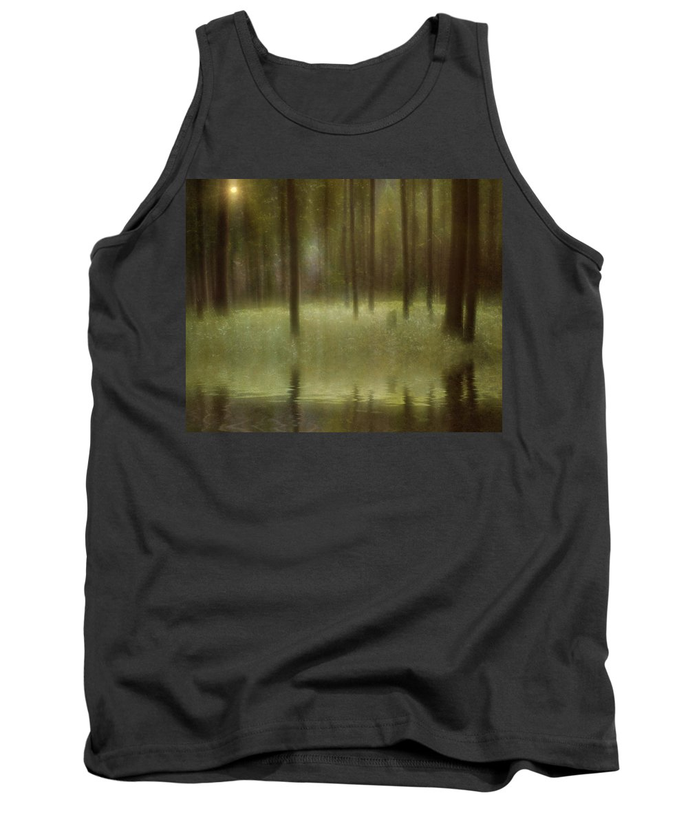 Forest Tank Top featuring the digital art Magical Forest by Diane Dugas