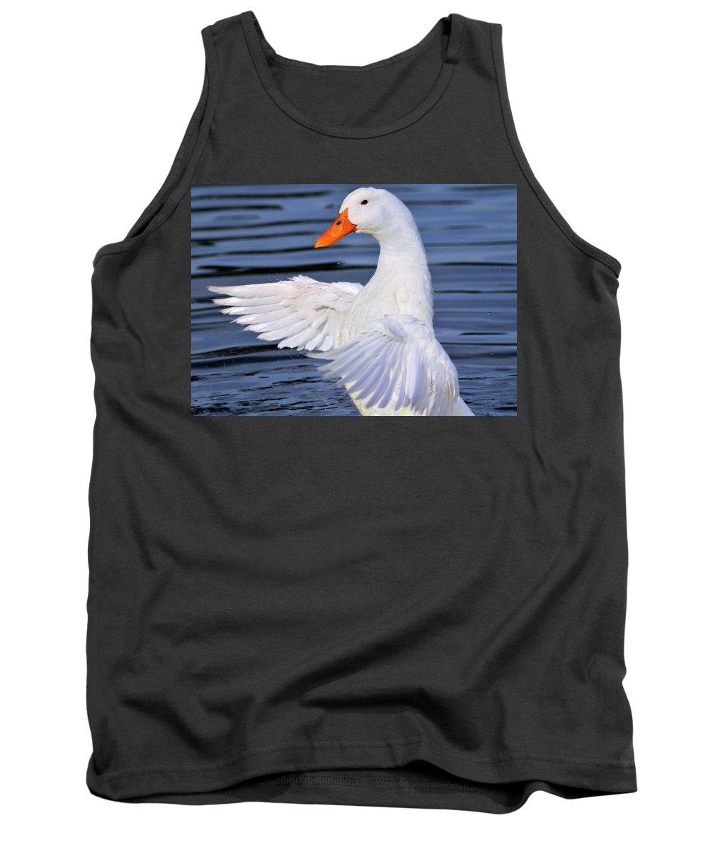 White Tank Top featuring the photograph Make A Joyful Noise by Bill Dodsworth