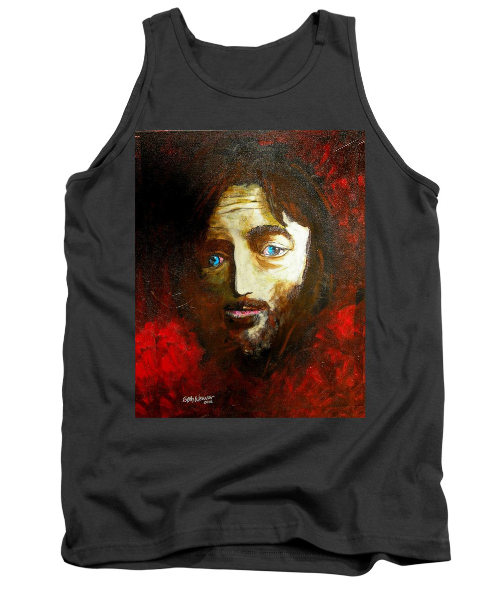Man From Nazareth Tank Top featuring the painting Man From Nazareth by Seth Weaver