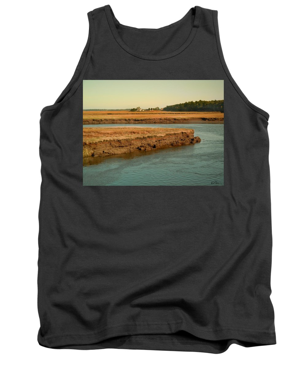 Maine Tank Top featuring the photograph Marsh Of Pine Point by Nancy Griswold