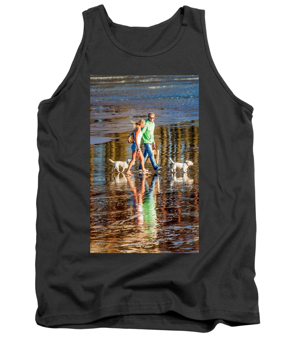 Beach Tank Top featuring the photograph Matching Couples by Dawn OConnor