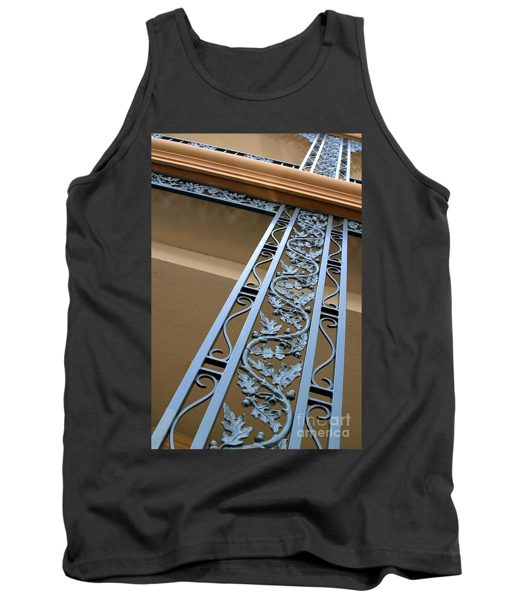 Metal Tank Top featuring the photograph Metal Design by Henrik Lehnerer