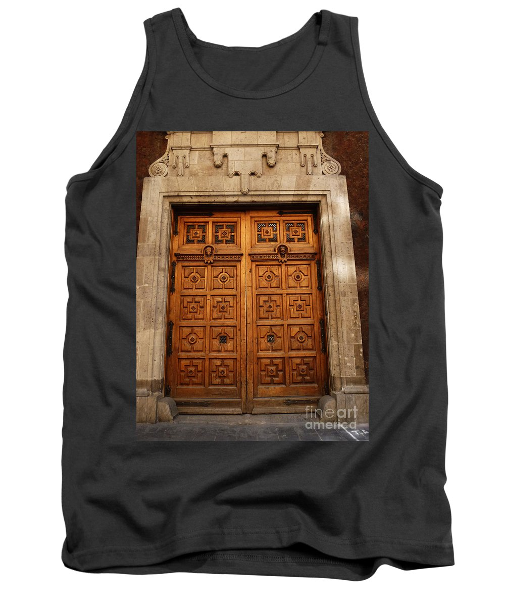 Mexico Tank Top featuring the photograph Mexican Door 67 by Xueling Zou