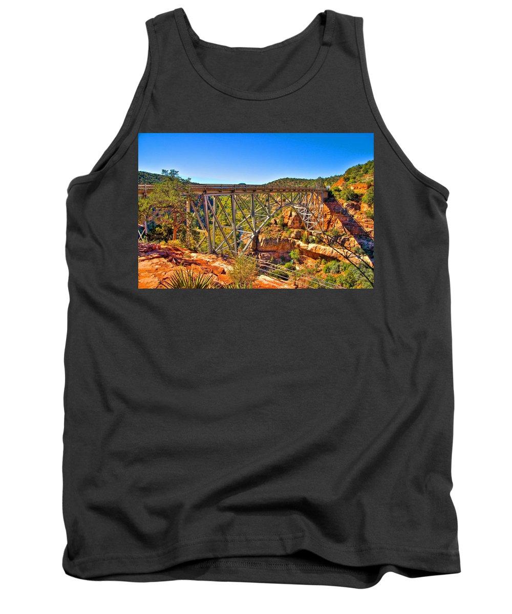 Midgley Bridge Sedona Arizona Tank Top featuring the photograph Midgley Bridge Sedona Arizona by Jon Berghoff
