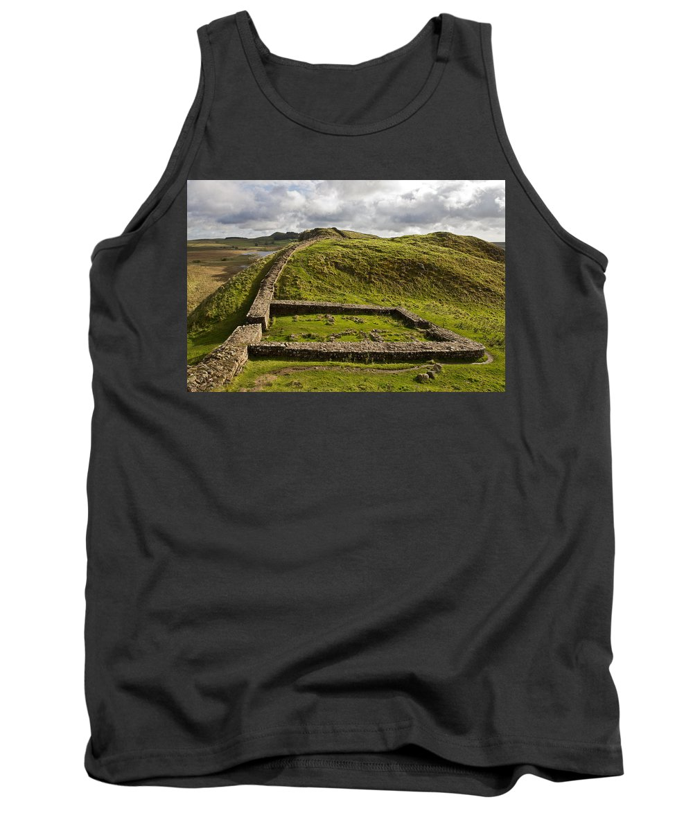 Roman Wall Tank Top featuring the photograph Milecastle 39 by David Pringle