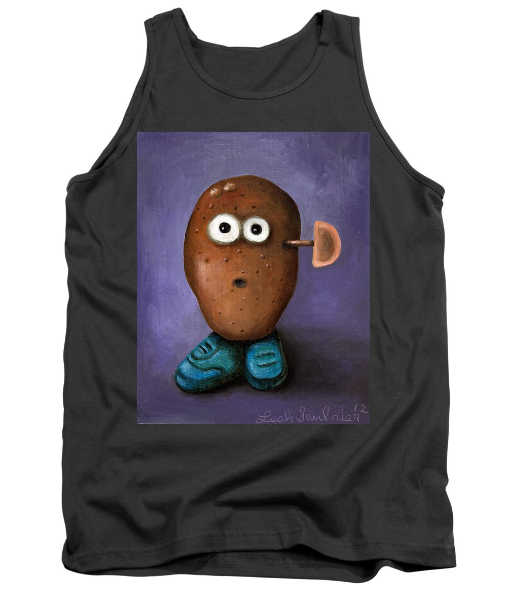 Potato Tank Top featuring the painting Misfit Potato Head 3 by Leah Saulnier The Painting Maniac