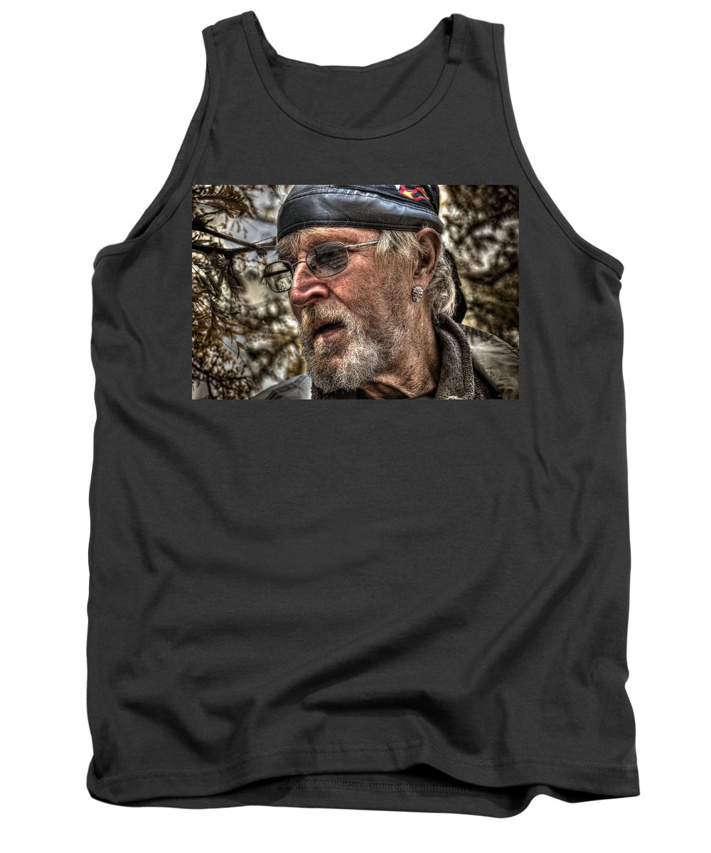 Acrylic Prints Tank Top featuring the photograph Missing Eyes by John Herzog