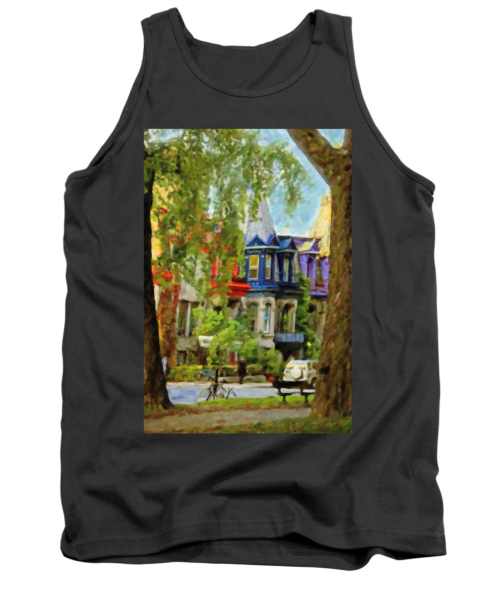 Montreal Tank Top featuring the digital art Montreal Architecture 2 by Diane Dugas