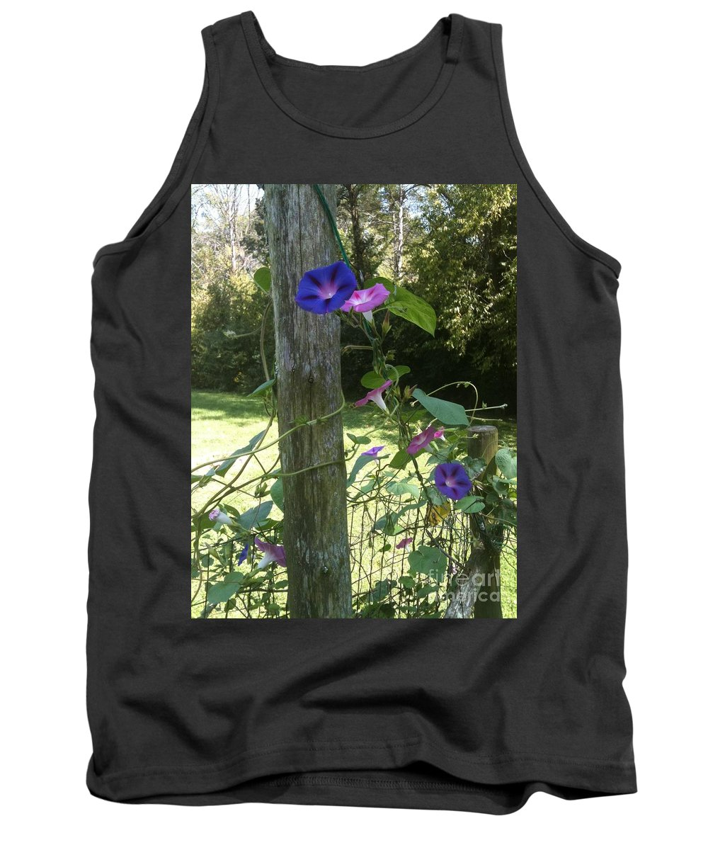 Rustic Tank Top featuring the photograph Morning Glory by Janice Spivey