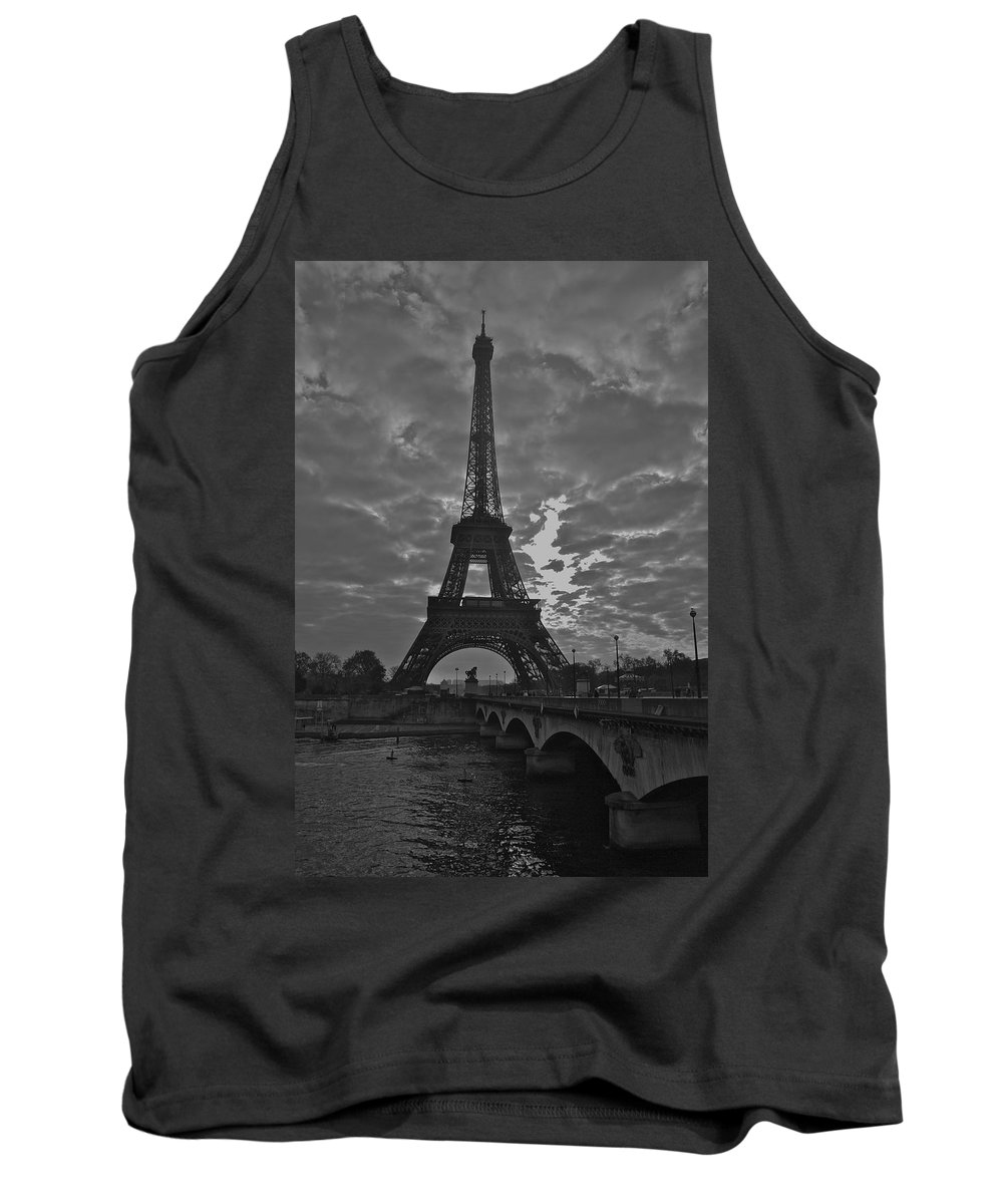 Eiffel Tower Tank Top featuring the photograph Morning Light by Eric Tressler