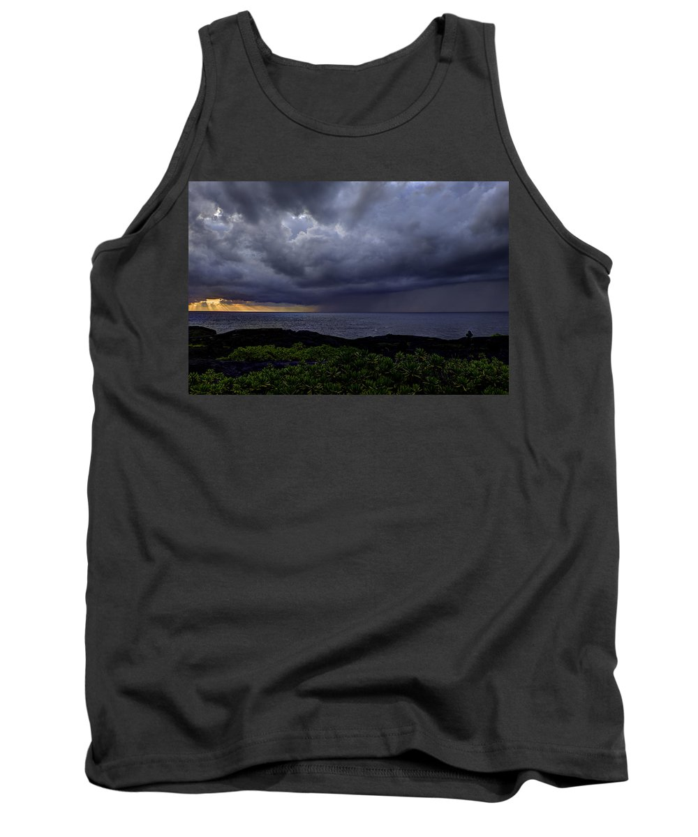 Sunrise Tank Top featuring the photograph Morning Squall by Mike Herdering