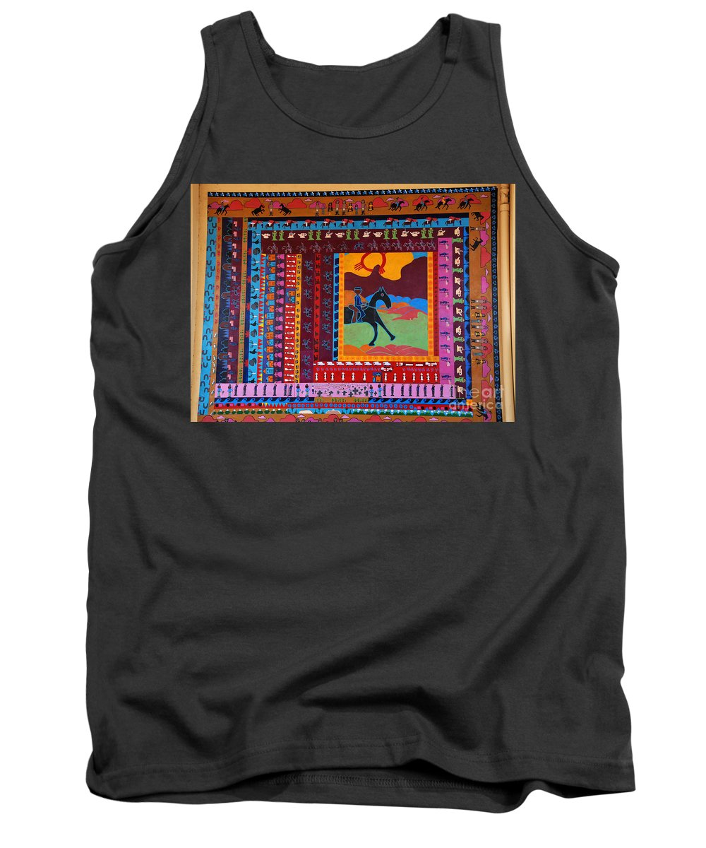 Mosaic Tank Top featuring the photograph Mosaic Silver City Nm by Susanne Van Hulst