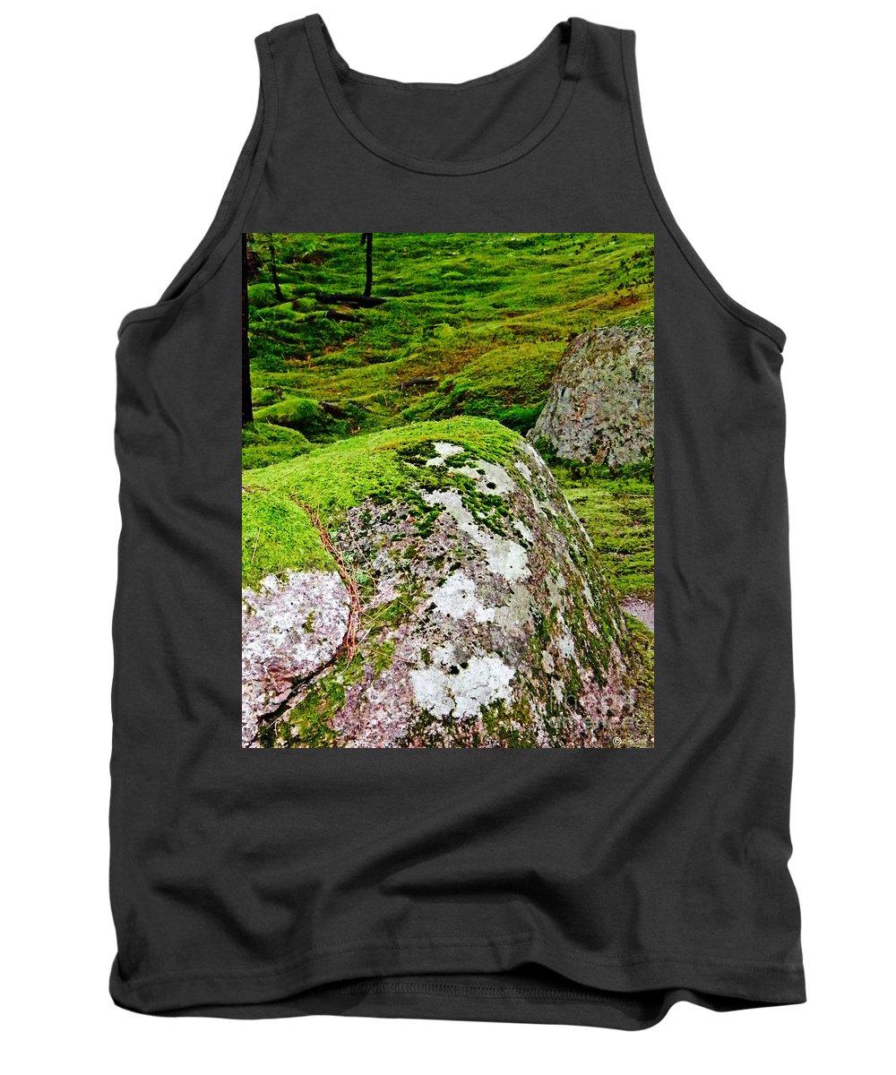 Moss Tank Top featuring the photograph Mossy Rock Garden by Lizi Beard-Ward