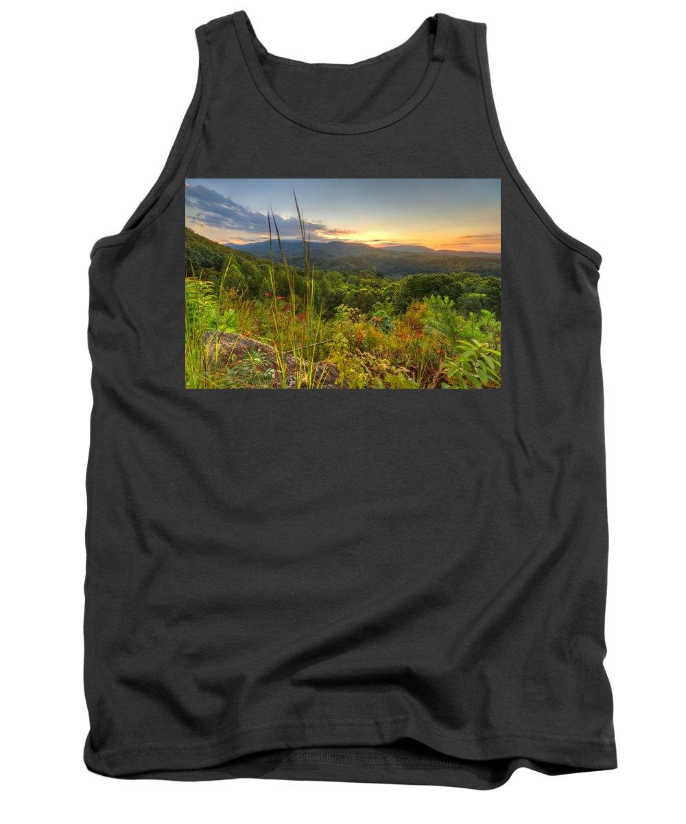 Benton Tank Top featuring the photograph Mountain Evening by Debra and Dave Vanderlaan