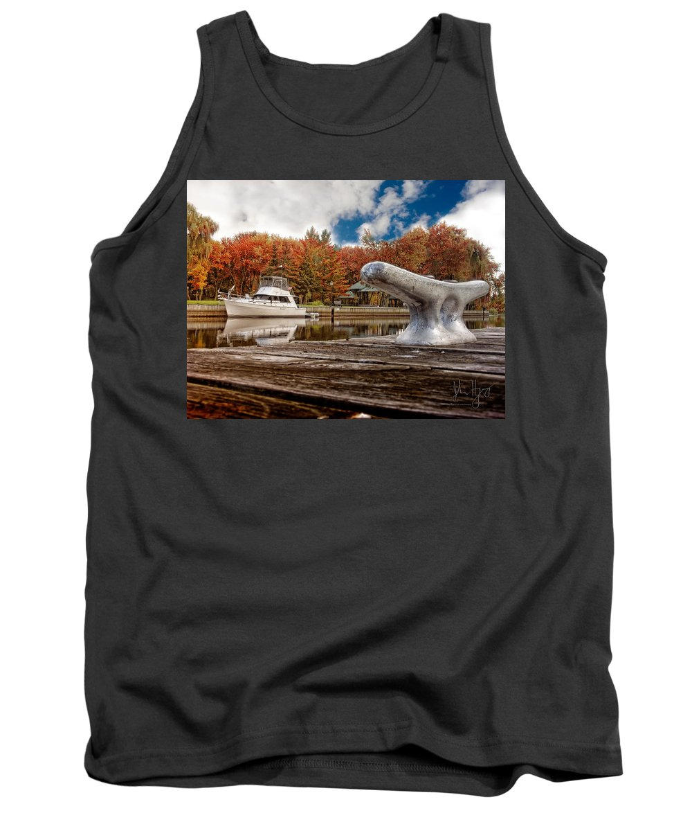 Xdop Tank Top featuring the photograph Napanee Harbour One by John Herzog