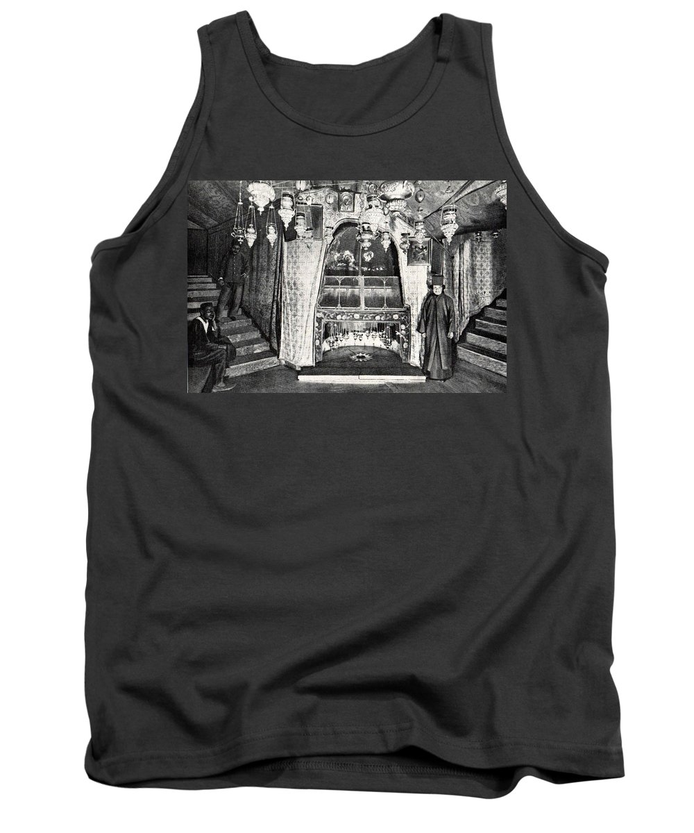 Nativity Tank Top featuring the photograph Nativity Grotto In 18th Century by Munir Alawi