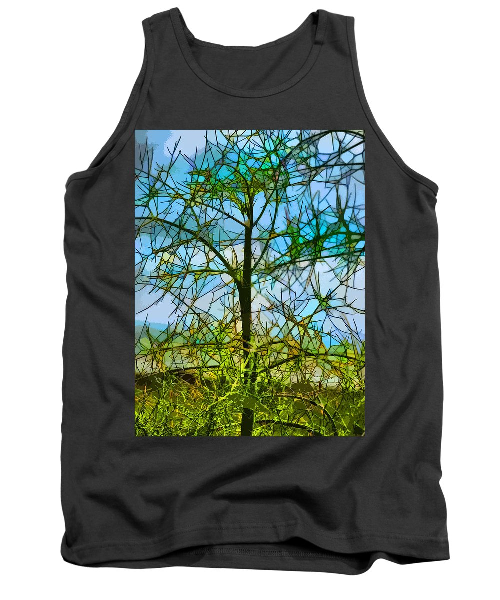 Stained Glass Tank Top featuring the photograph Nature's Church Windows by Steve Taylor