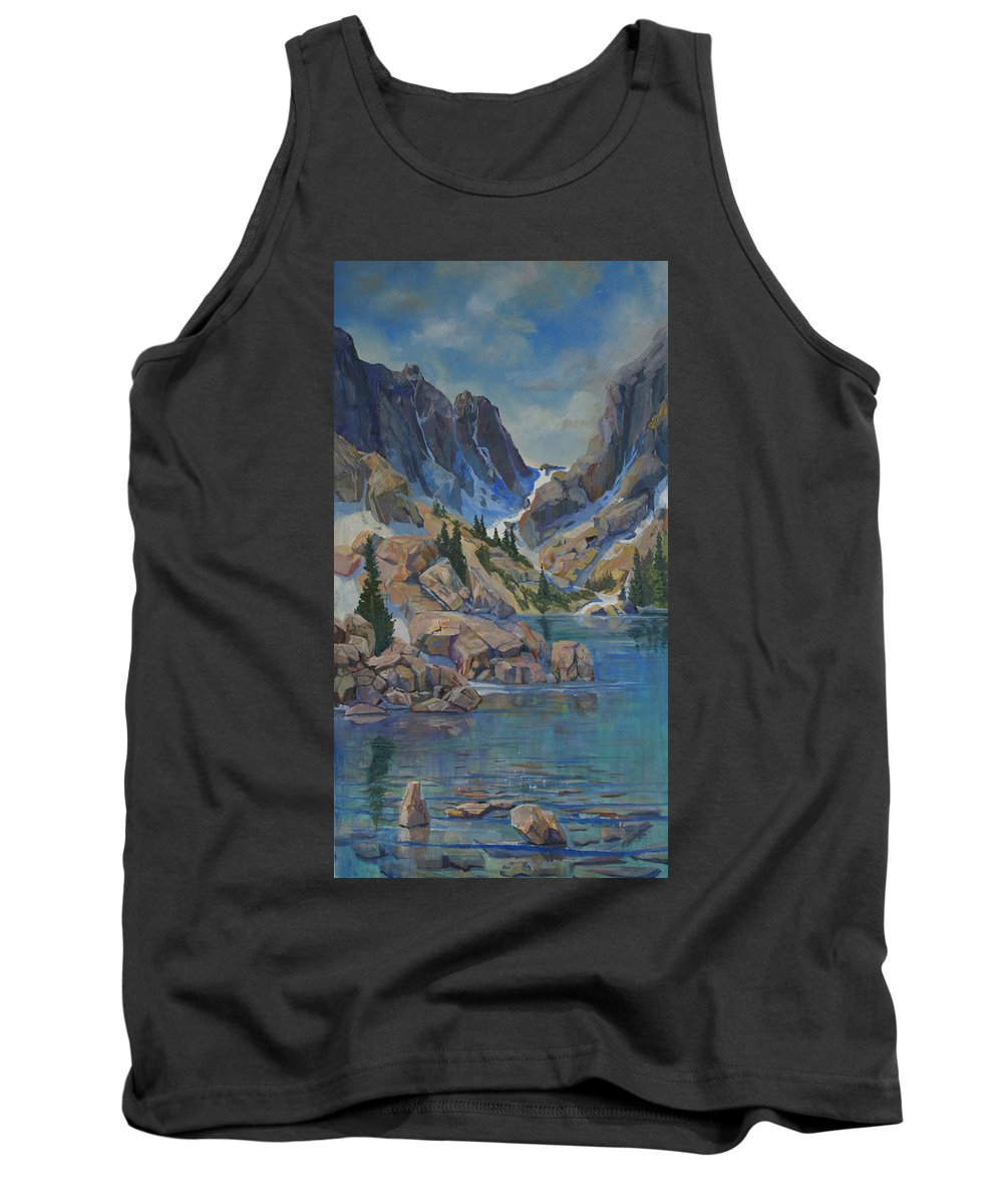 Tank Top featuring the painting Near Haydens Spires by Heather Coen