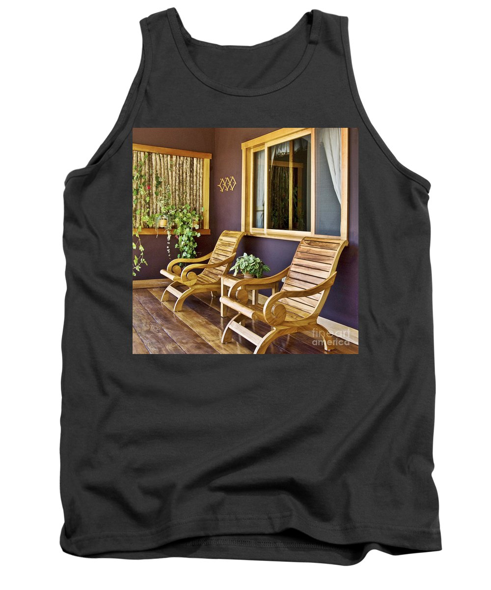 Interior Tank Top featuring the photograph Oasis Of Calm by Heiko Koehrer-Wagner