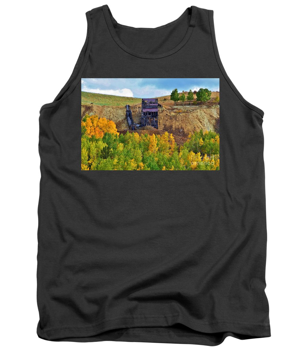 Mine Tank Top featuring the photograph Old Cripple Creek Mine by Ellen Heaverlo