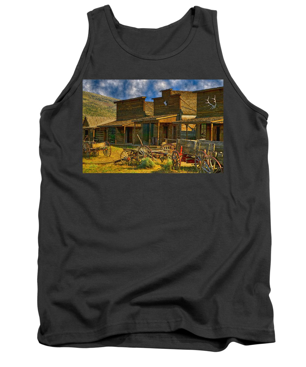 Old Town Tank Top featuring the photograph Old Town Cody Wyoming by Garry Gay