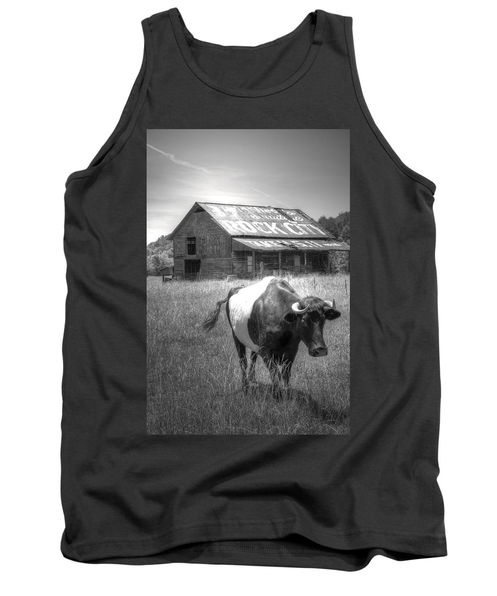 Cow Tank Top featuring the photograph On The Move by David Troxel