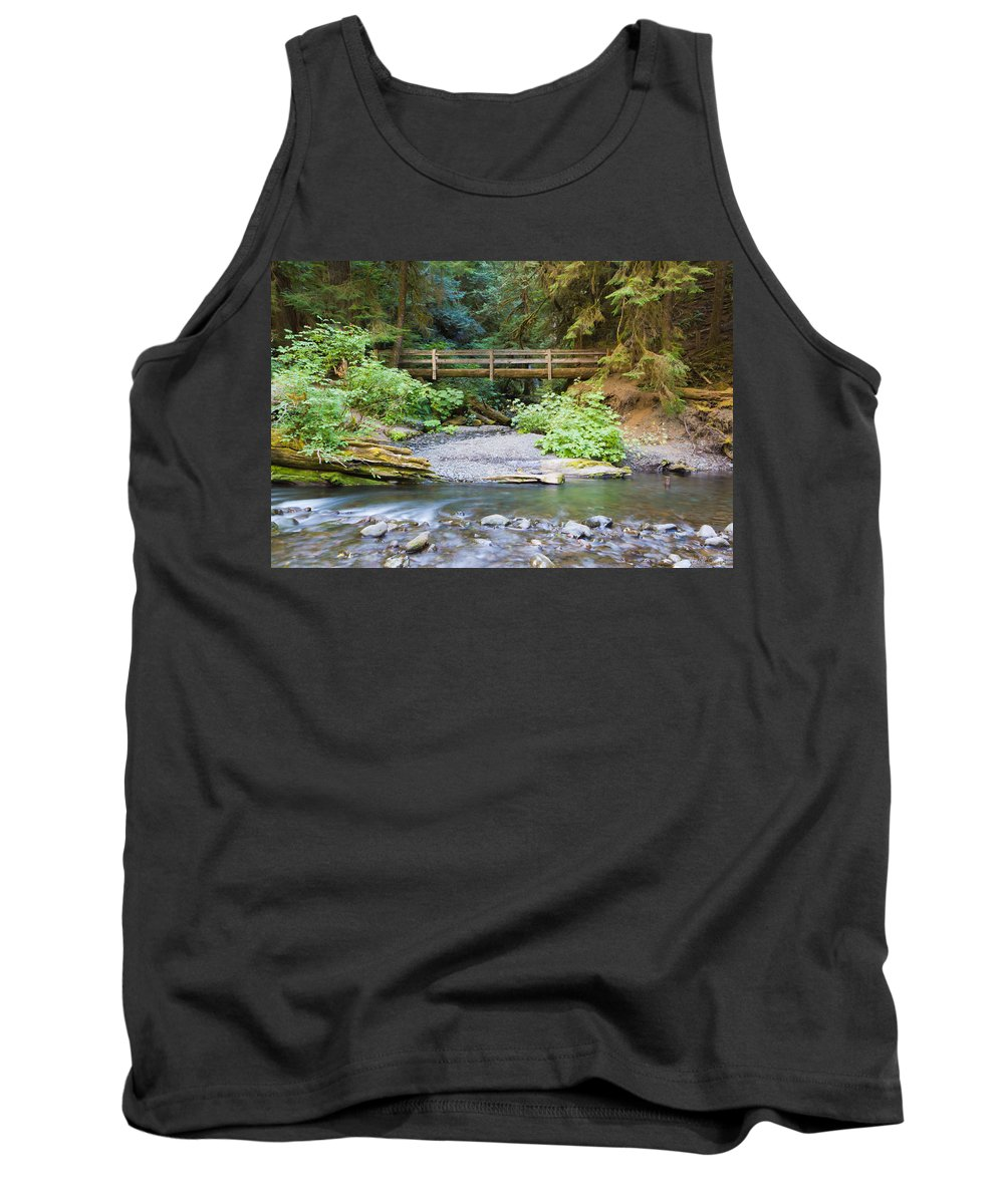 Green Tank Top featuring the photograph On The Trail To Marymere by Heidi Smith