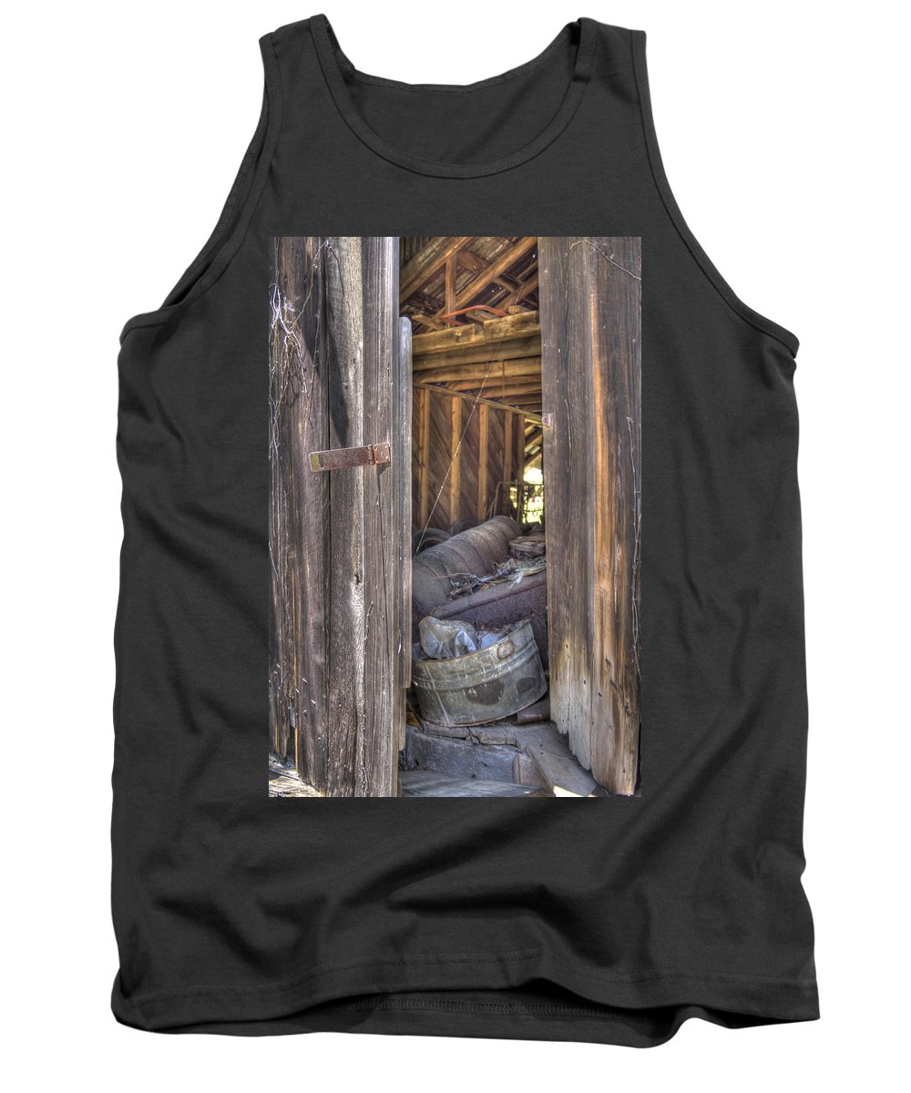 Trash Tank Top featuring the photograph One Man's Trash.... by David Troxel