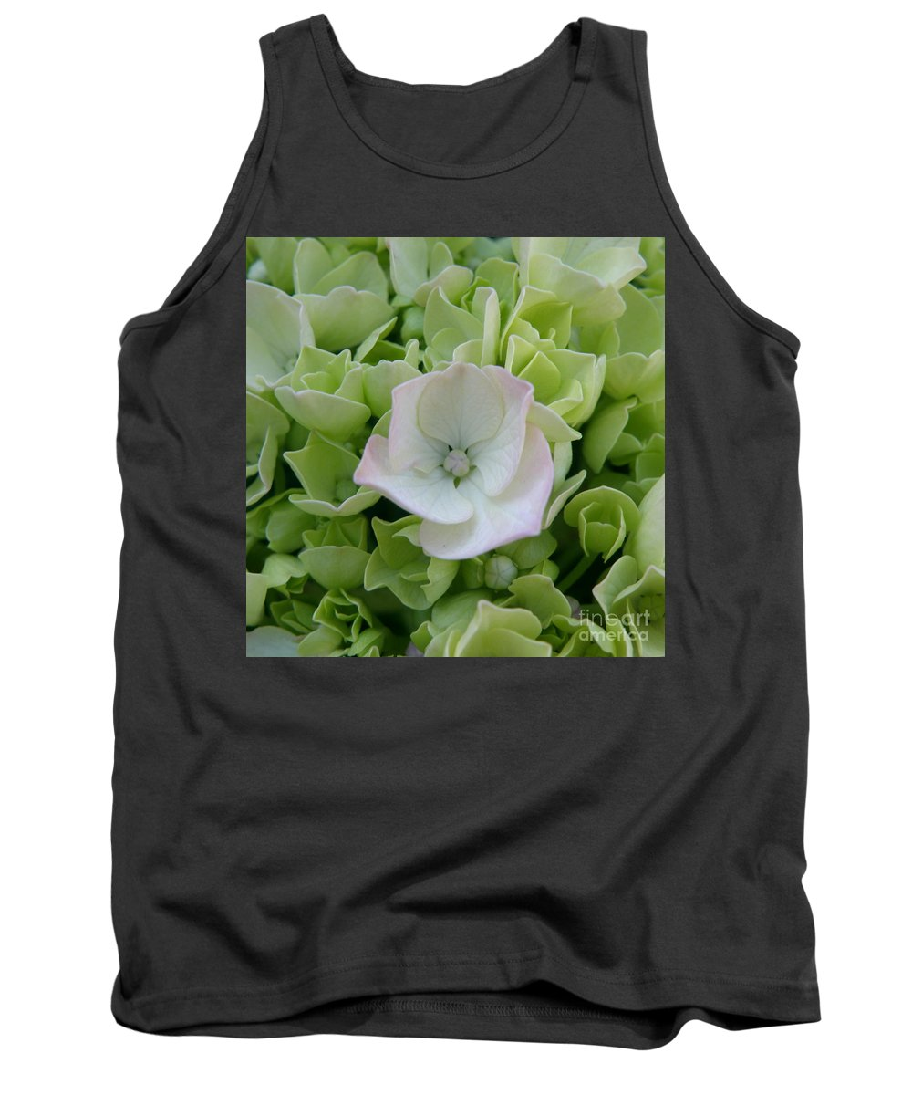 Hydrangea Tank Top featuring the photograph Opening To The Possibilities by Lainie Wrightson